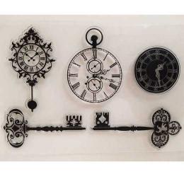 hm-1558. Набор силиконовых штампов Часы
