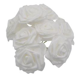 hm-1571. Розочка из фоамирана, белая. 10 шт., 21 руб/шт