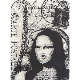 hm-1664. Силиконовый штамп Мона Лиза
