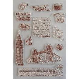 hm-1669.  Набор силиконовых штампов Лондон