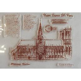 hm-1670.  Набор силиконовых штампов Notre Dame de Paris
