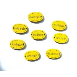 hm-200. Бирка handmade, желтая, 8 шт., 7 руб/шт