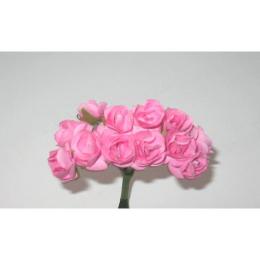 hm-21. Розочки бумажные, розовые. 12 шт., 5 букетов, 39 руб/бук