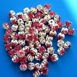 hm-351. Пришивной элемент, насыщенный розовый. 10 шт.