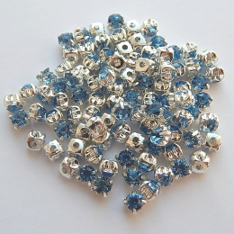 hm-353. Пришивной элемент, небесно-голубой. 100 шт., 0.9 руб/шт