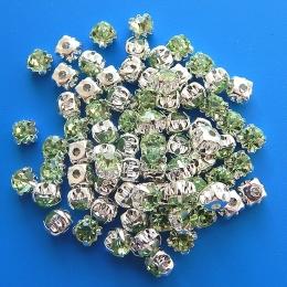 hm-355. Пришивной элемент, прозрачно-зеленый. 10 шт.