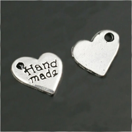 hm-441. Подвеска Сердце hand made, цвет серебро. 10 шт., 10 руб/
