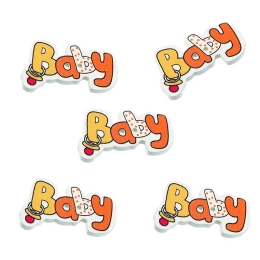 hm-520. Пуговицы Baby, оранжевые,  дерево, 10 шт.,  8 руб/шт