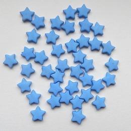 hm-535. Бусины Звезда, синий, 10 шт