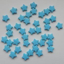 hm-536. Бусины Звезда, голубой, 10 шт