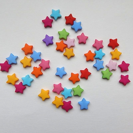 hm-537. Бусины Звезда, микc, 100 шт, 0.8 руб/шт