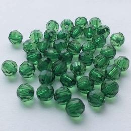hm-593. Бусины, зеленые. 50 шт., 90 коп/шт