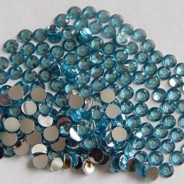 hm-601. Стразы, голубые, 100 шт., 0,7 руб/шт