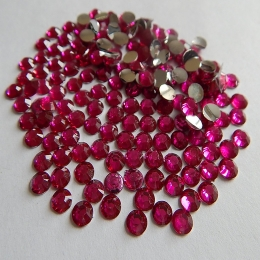 hm-606. Стразы, ярко-розовые, 100 шт., 0,7 руб/шт