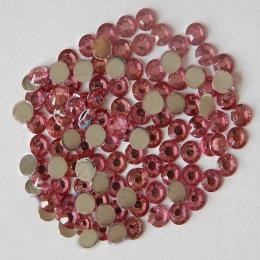 hm-607. Стразы, розовые, 100 шт., 0,7 руб/шт