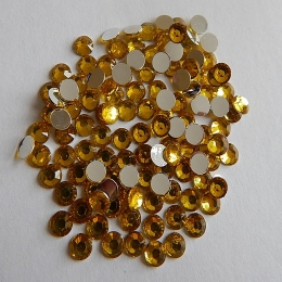 hm-608. Стразы, желтые, 200 шт., 0,6 руб/шт