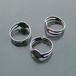 hm-707. Основа для кольца, цвет серебро. 10 шт., 7.5 руб/шт