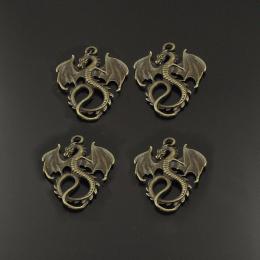 hm-766. Подвеска Дракон, цвет античная бронза. 20 шт., 12 руб/шт