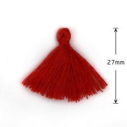 hm-872. Кисточка, цвет красный. 5 шт., 9 руб/шт