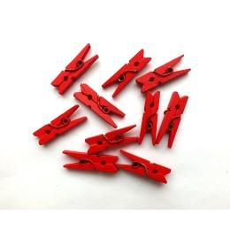 hm-88. Прищепка, красная. 10 шт., 6 руб/шт