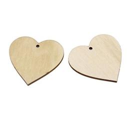 hm-911. Подвеска Сердце, дерево. 5 шт., 14 руб/шт