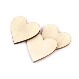 hm-913. Декор Сердце, дерево. 5 шт., 7 руб/шт