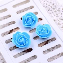 hm-939. Розочка из фоамирана, голубая. 5 шт., 8 руб/шт