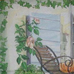 12044. Кресло у дома