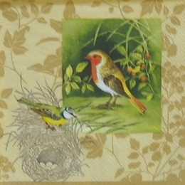 12208. Птички и гнезда. 15 шт., 16 руб/шт
