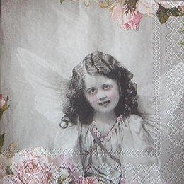 12398. Ангел и розы. 20 шт., 18 руб/шт
