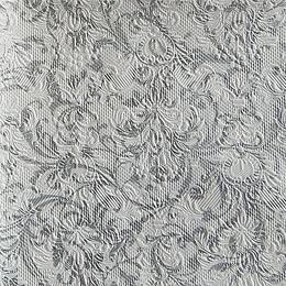 12942. Серебряный узор на белом