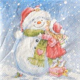 24042. Девочка и снеговик. 40 шт., 5  руб/шт