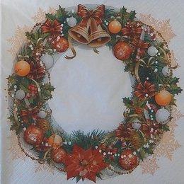 24061. Рождественский венок. 20 шт., 5,5 руб/шт