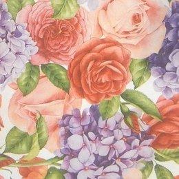 24067. Розы и сирень. 20 шт., 5,5 руб/шт