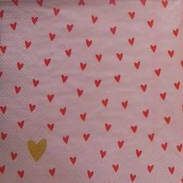 24099. Сердечки на розовом. 10 шт., 8 руб/шт