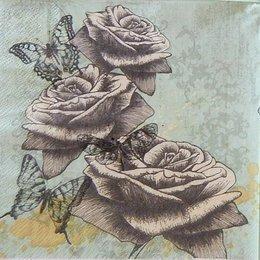 24118. Розы на зелёном. 15 шт., 6 руб/шт