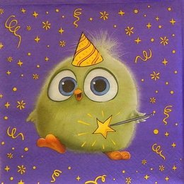 24124. Зелёный птенчик Angry Birds. 15 шт., 6 руб/шт