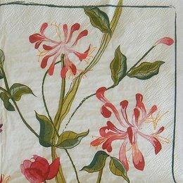 24127. Красные цветы на стеблях. 5 шт., 11 руб/шт