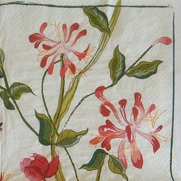 24127. Красные цветы на стеблях. 10 шт., 8 руб/шт