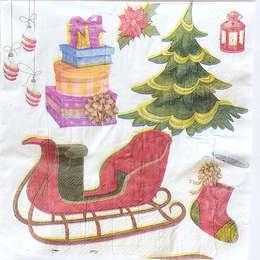 24145. Новогодние санки с подарками. Уценка