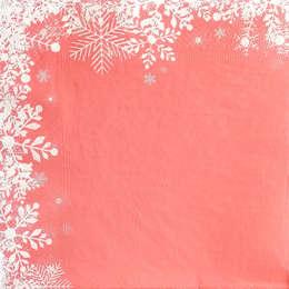 24164. Снежинки на красном.