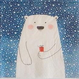24168. Медведь на синем.