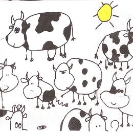 24179. Нарисованные коровы. 10 шт., 11 руб/шт