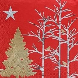 24188. Деревья на красном. 20 шт., 5,5 руб/шт