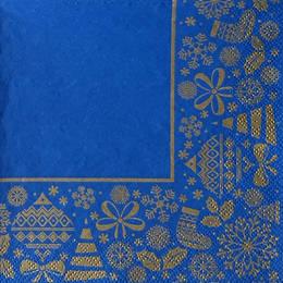24192. Новогодние мотивы на синем. 15 шт., 6 руб/шт