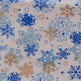24194. Голубые снежинки. 5 шт., 11 руб/шт