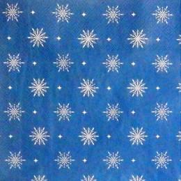 24198. Снежинки на синем. 15 шт., 6 руб/шт
