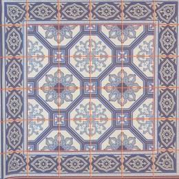 24269. Синий орнамент. 60 шт.,  4,5 руб/шт