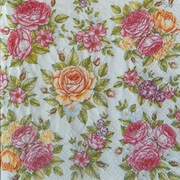 24272. Розы на белом. 20 шт., 5 руб/шт