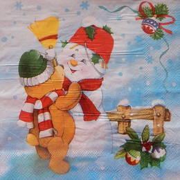 24344. Снеговик и мишка